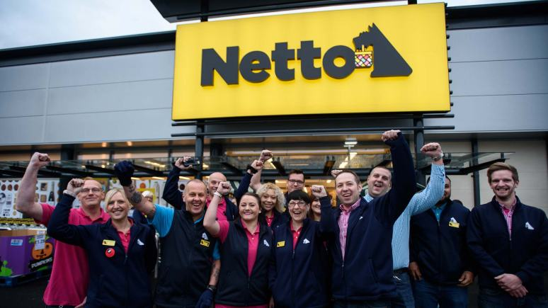 Netto staff on opening day. Photo: Steve Smailes for The Lincolnite