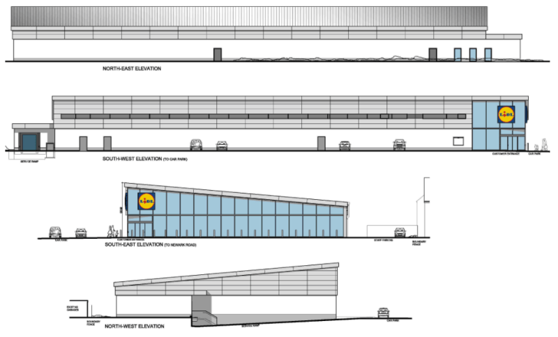 Proposed Elevations. Artist impression: John Roberts Architects.