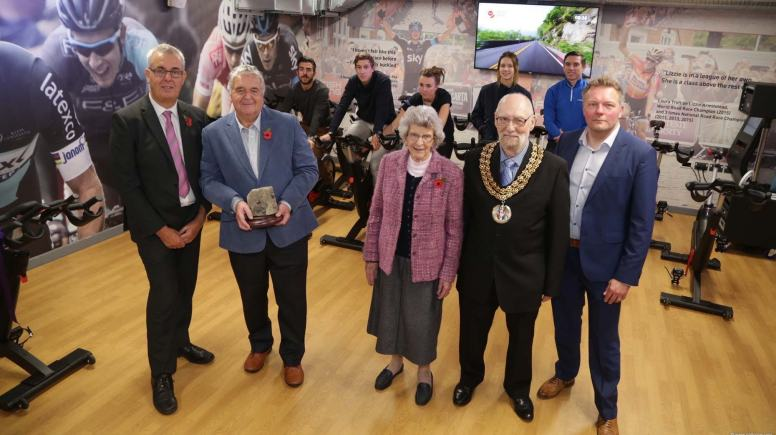 The Lincoln Festival of Cycling and new Sportive event was launched at One NK on November 5. (Left-Right: Peter Odam, Ian Emmerson, Marion Brighton, John Bishop and Dan Ellmore) Photo: Phil Crow