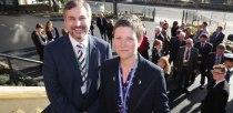 Gary Headland, CEO of Lincoln College Group, with Rona Mackenzie, UTC Principal. Photo: Phil Crow