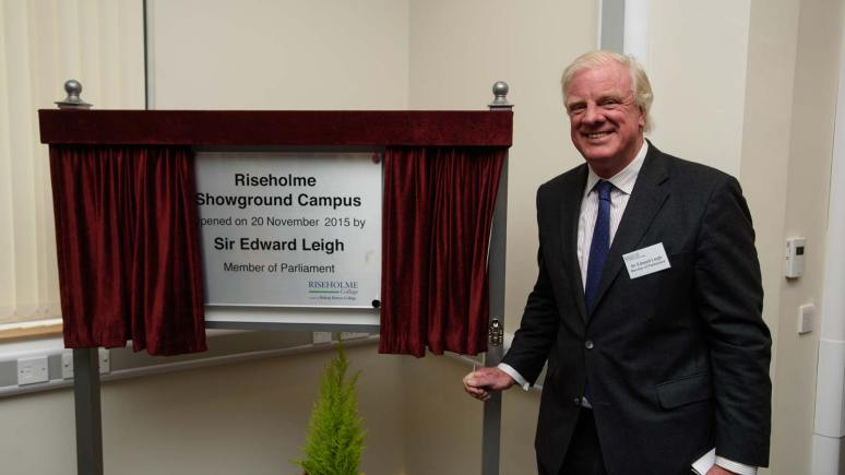 MP for Gainsborough Sir Edward Leigh had the honours of unveiling a special commemorative plaque. Photo: Steve Smailes for The Lincolnite