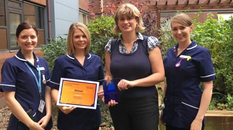(L-R): Laura Fowler (Respiratory Clinical Nurse Specialist), Kathryn Cope (Respiratory Clinical Nurse Specialist), Dr Zara Pogson, (Respiratory Consultant), Katie Sleight (Respiratory Clinical Nurse Specialist)