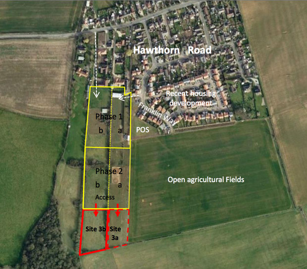 A map charting the developments of the paddock area. The latest application is for phase 3b. Photo: LK2
