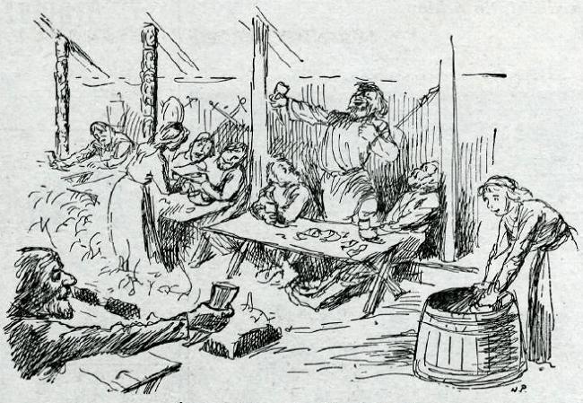 A depiction of a traditional Viking Yule celebration. Image: Reykjavik City Museum