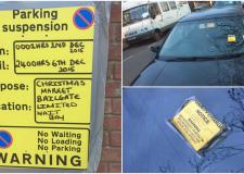 Parking fines were wrongly issued a day early on routes around the Christmas market.