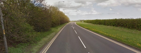 The crash happened on the A15 outside RAF Scampton.