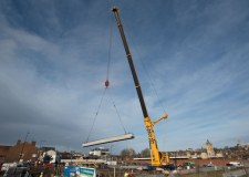 The new bridge, part of the East West Link road, is beginning to take shape. Photo: Steve Smiles for The Lincolnite