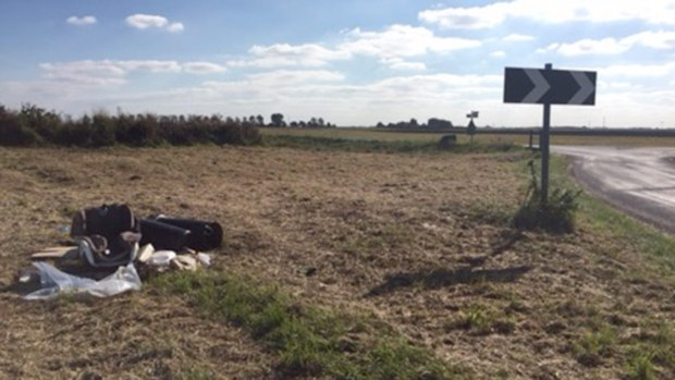 Martin Godwin dumped his discarded items in a field