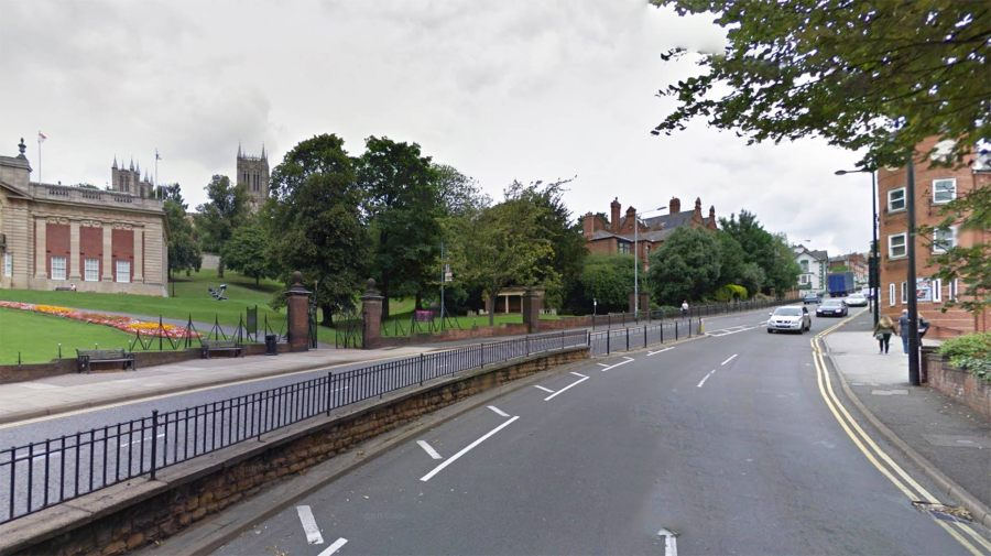 One lane will be closed on Lindum Hill for the duration of the weekend. Photo: Google Street View