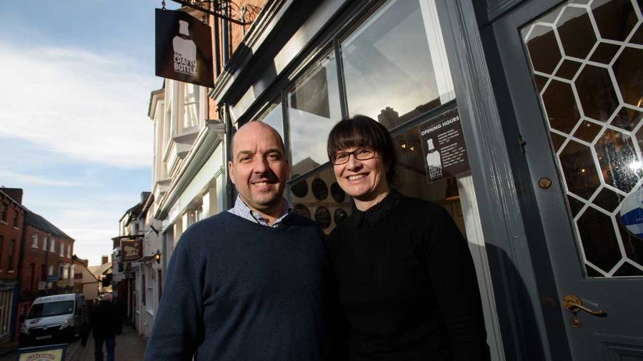 Business owners Karl and Claire. Photo: Steve Smailes for The Lincolnite