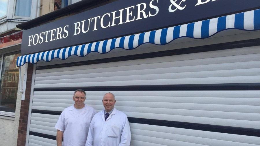 Brothers Paul and Mark Foster, owners of Foster's Butchers and Bakers