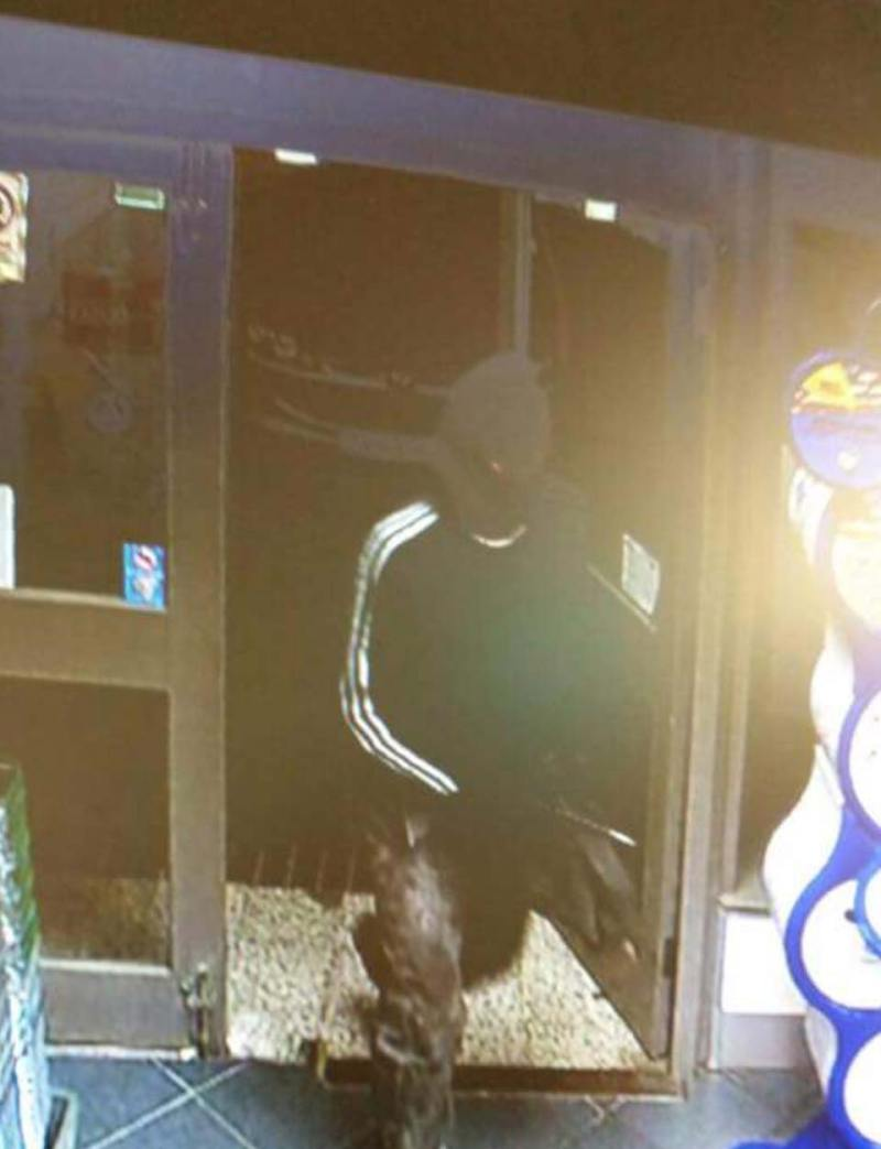 CCTV capture of the suspect in the Woodfield Avenue armed robbery released by the Spar shop