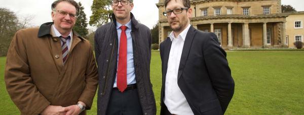 John Plumridge, University of Lincoln Director of Estates, Alex McCallion, Planning Consultant for Savills and Tony skipper, Director at Ellis Williams at the Riseholme Campus