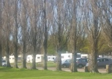 The caravans pitched up on the Grandstand site on the afternoon of April 20.
