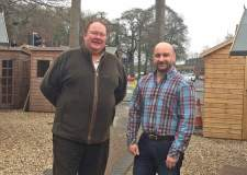 Marc Jones (right) with firearms dealer John Kaberry