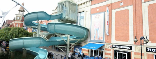The designs have been revealed for the UK's for shopping centre waterslide.