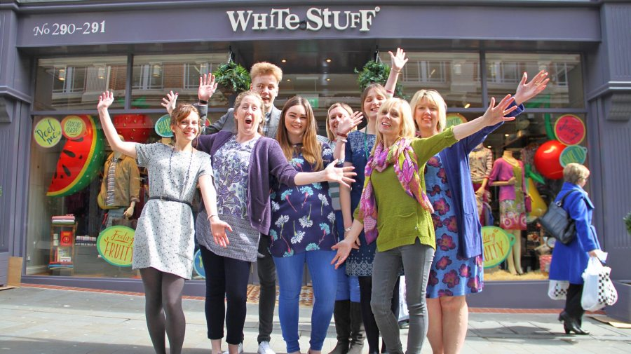 White Stuff  staff are ready for the grand opening of the first Lincoln store. Photo: Emily Norton for The Lincolnite