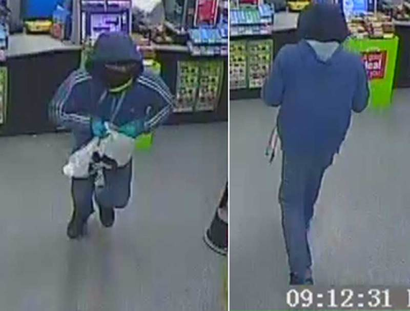 CCTV images from the robbery at the Co-op store on Skellingthorpe Road on March 12, 2016