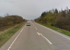 The motorcyclist was sadly killed in the A52 crash near Grantham. Photo: Google Street View.