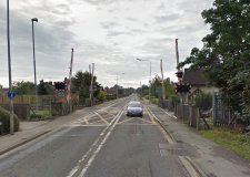 The Doddington Road level crossing in Lincoln will be closed for 24 hours. Photo: Google Street View