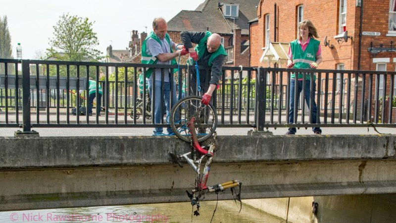 The team found a number of items in the drain. Photo: Nicholas Rowsthorne