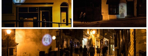 Lincoln third years took over Steep Hill with their light graffiti