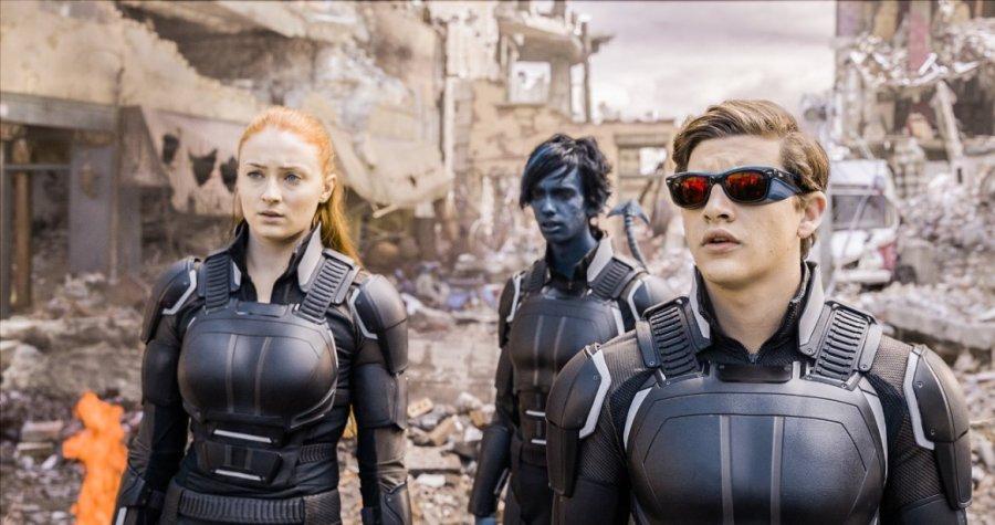 Sophie Turner, Kodi Smit-McPhee and Tye Sheridan in X-Men: Apocalypse. Photo by 20th Century Fox.