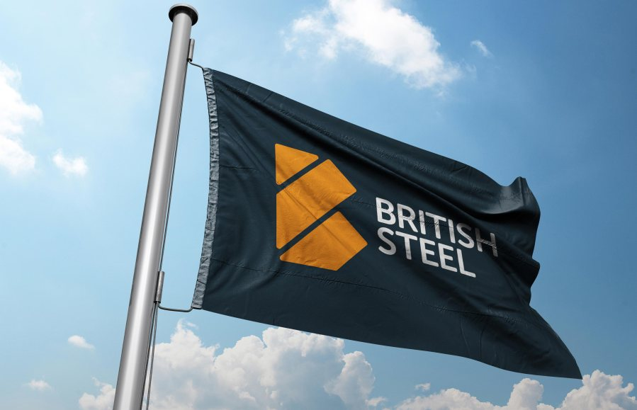 The new British Steel branding designed by Lincoln-based Ruddocks