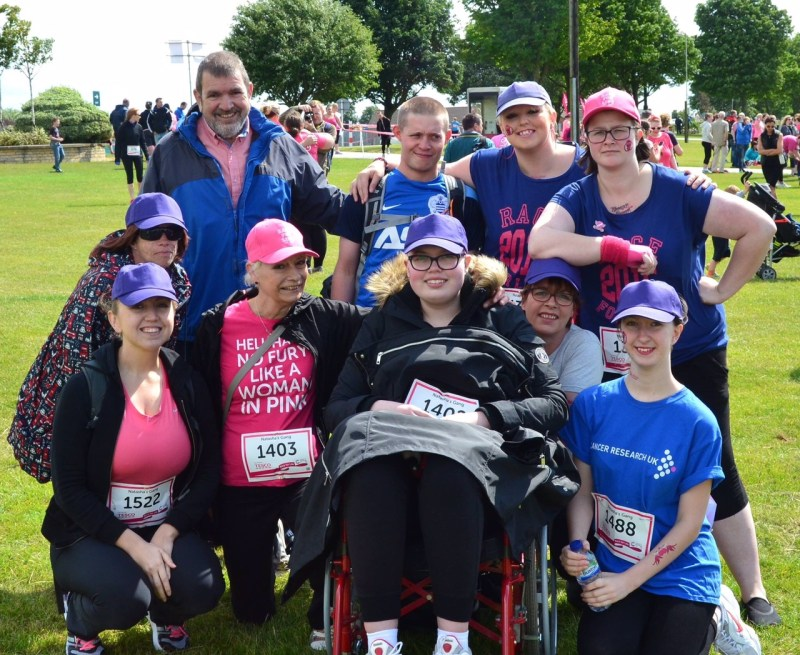 Last year, Natasha completed the race in a wheelchair. This year, she's walking it.