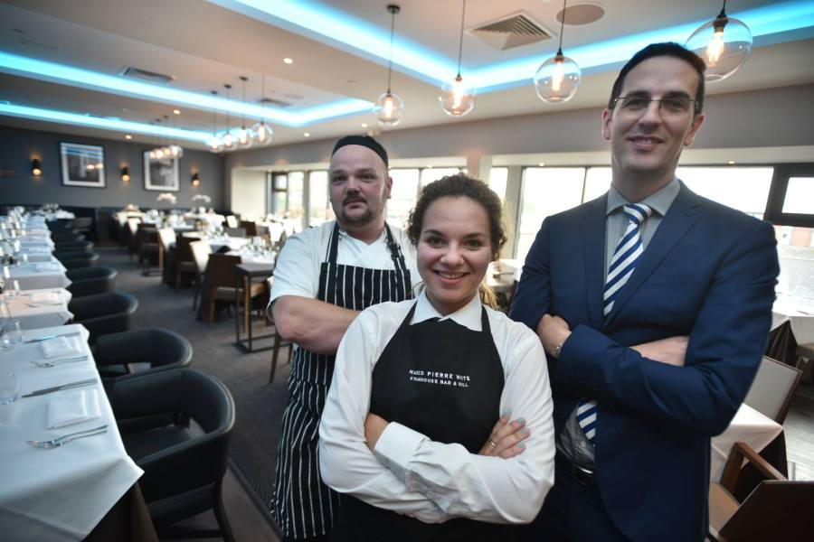 The team at DoubleTree by Hilton for the new Marco Pierre White Steakhouse. Photo Steve Smailes for The Lincolnite