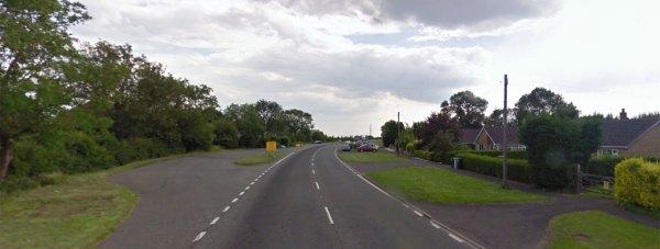 The A16 at Keal Cotes. Photo: Google Street View