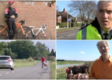 Shots from the new Share the Road campaign video.