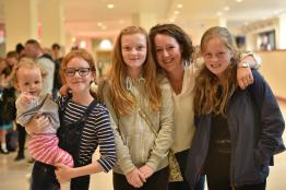 Holly Kent, 11 (second from the left) with her friends and family. Photo: Steve Smailes for The Lincolnite