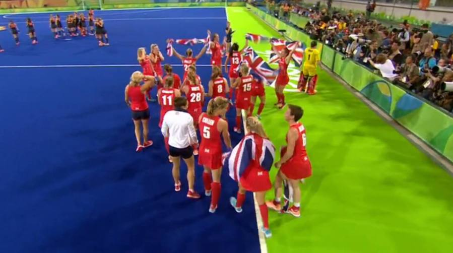 The win came after a penalty shootout that sealed the gold for Team GB