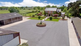 Driveway and stables