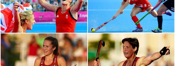 Proud Lincolnshire hockey stars: Crista Cullen, Georgie Twigg, Shona McCallin and Hannah Macleod. Photo: Team GB