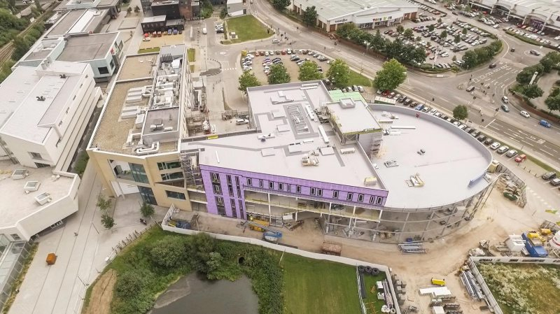 The Isaac Newton building is on track for a spring 2017 completion