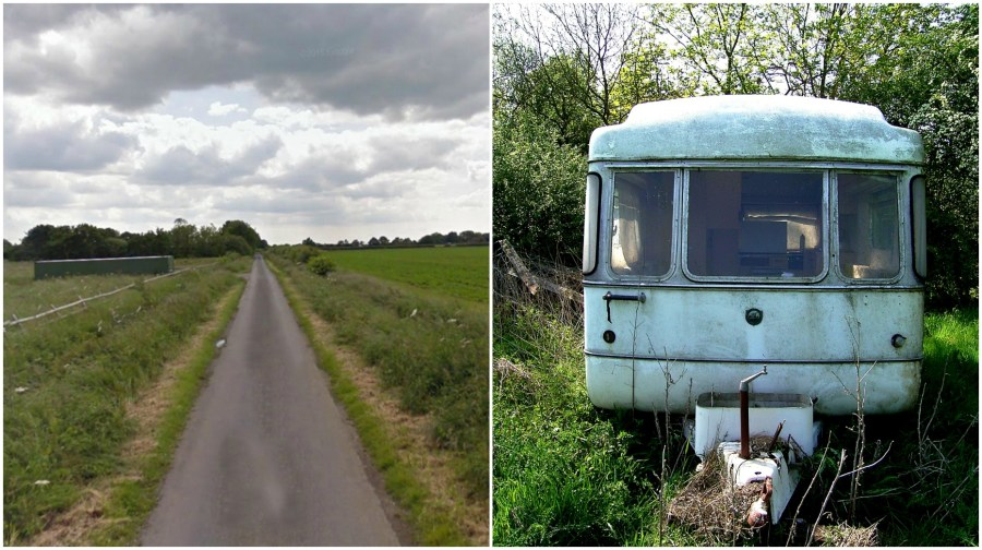 The man was pitched illegally in North Scarle for almost four years. Caravan photo, stock
