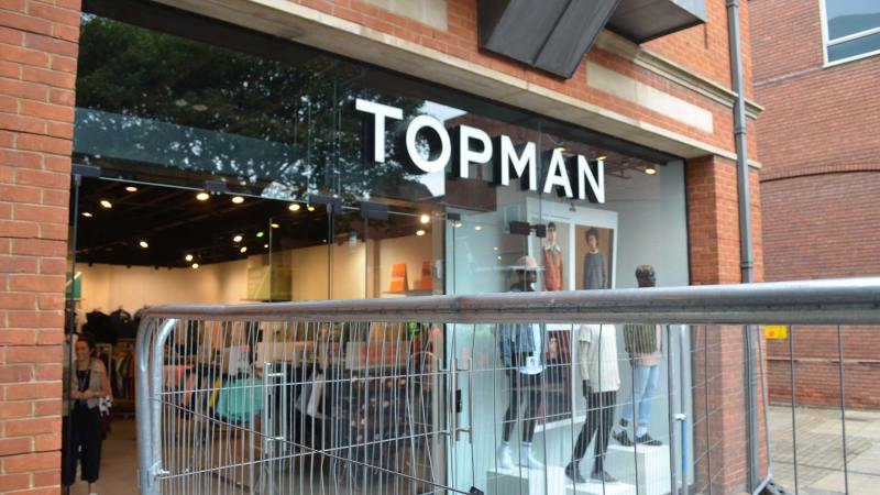 Topman has been the least affected by the works but has still seen a drop in trade. Photo: Sarah Harrison-Barker