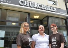 The team at Churchill's are excited about the new menu. Photo Sarah Harrison-Barker for The Lincolnite