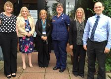 (L-R) Helen Lunn, practice manager, Dr Donna Scott, general practitioner, Julie Cole, reception supervisor, Liz Smith, nurse team leader, Louise Hocking, admin team leader, and Dr Philip Williams, a partner at the practice.