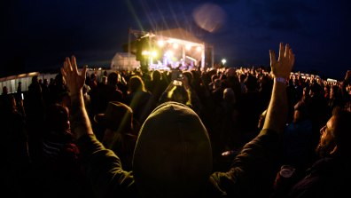Crowds at the Lincolnshire Showground for Ocean Colour Scene headlining Summer's End festival. Photo: Steve Smailes for The Lincolnite