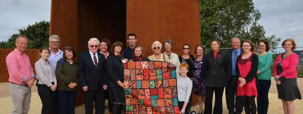 Lincoln BIG and VIC staff who toured the IBCC site, where the draw for the quilt was made by Veteran Les Rutherford