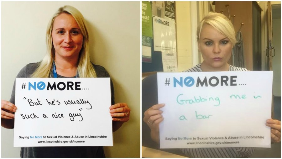 Lincolnshire County Council has set up the #NoMore campaign to raise awareness of sexual violence in the county.
