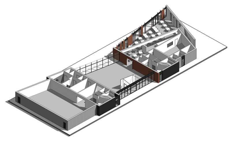 Internal designs for the new education and interpretation centre.