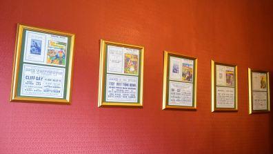 Memorabilia on the walls of the venue. Photo: Sarah Barker for The Lincolnite