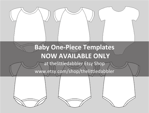 Baby One-Piece Templates at thelittledabbler Etsy Shop