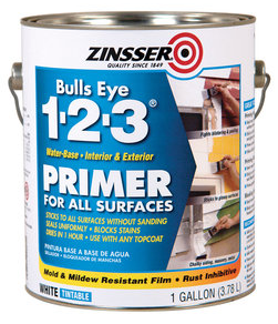 Zinsser Water Based Primer used in the Before and After Dresser Painting Project   ||  thelittledabbler.com