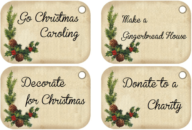 Advent Calendar Tags from thelittledabbler