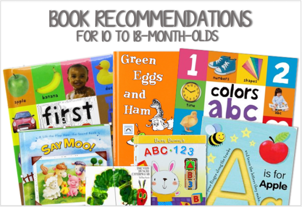 Book Recommendations for 10 to 18-Month-Olds  || thelittledabbler.com